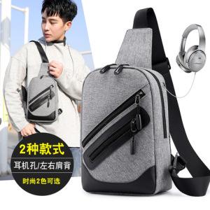 跨境新款男士胸包潮流单肩斜挎包休闲大容量多功能背包时尚户外包