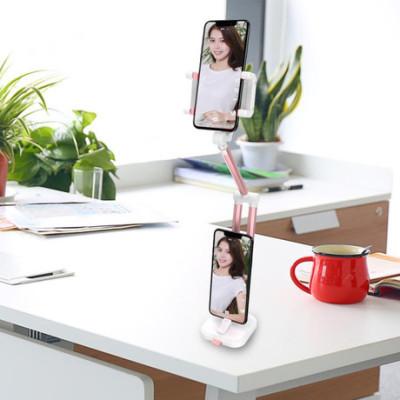 懒人手机支架 桌面多功能伸缩 床头铝合金折叠360°旋转 直播支架