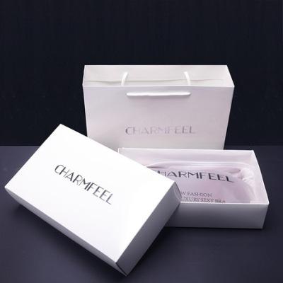一件代发女士内衣文胸高档白色礼盒礼品包装盒手提袋现货批发9960