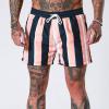 肌肉兄弟男士运动速干短褲 篮球裤短裤男直条纹裤 eBay亚马逊爆品