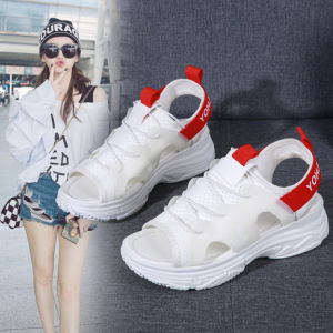 凉鞋女2019新款韩版夏季女鞋子松糕休闲凉鞋运动鞋厚底沙滩鞋软底