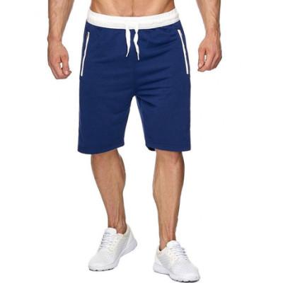 短裤男运动休闲裤夏季新潮纯色热卖大码男士五分挤带裤 厂家直销