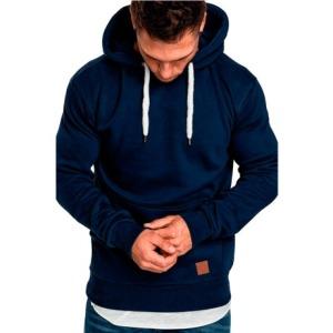 2018新款男士纯色户外健身运动卫衣休闲时尚套头    上衣