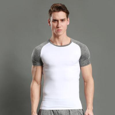 猎星新款运动跑步T恤圆领紧身衣健身短袖男速干吸湿排汗弹力12002