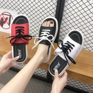 凉鞋女夏季新款室外厚底凉拖鞋女休闲韩版女士外穿沙滩凉拖鞋