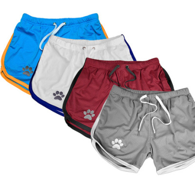 肌肉兄弟时尚快干薄款网眼运动短裤男训练透气健身热裤子沙滩短裤
