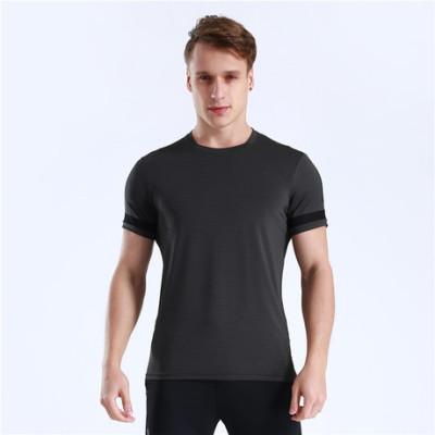 猎星空白logo定制速干透气健身服跑步训练篮球足球运动T恤90087
