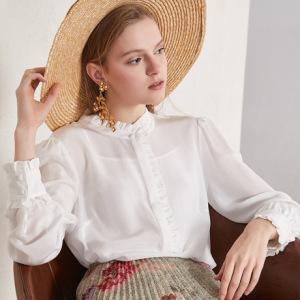 淘工厂专业生产中高端梭织女装欧美风女士衬衫加工定制包工包料
