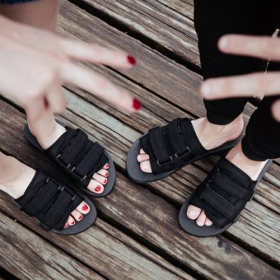 男士一字拖韩版男女拖鞋防滑情侣沙滩鞋越南凉鞋个性潮鞋厂家直供