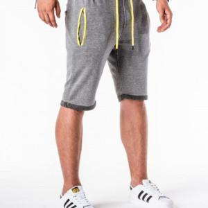 2019夏季新款亚马逊欧美男士时尚系带毛边拼色口袋五分裤一件代发