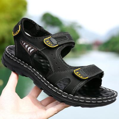 跨境凉鞋男士夏季凉鞋2019新款户外沙滩鞋男凉鞋男真皮潮