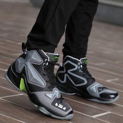 詹姆斯战靴高帮篮球鞋男子透气增高耐磨情侣运动鞋学生休闲鞋男鞋