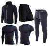 爆款运动套装男夏季速干紧身健身服训练跑步衣加肥套装5X6X多件套