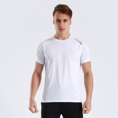 猎星厂家直销纯色光板批发男健身服T恤跑步运动短袖速干衣90082