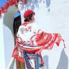 厂家直销民族风围巾 海边旅游沙滩巾 印花丝巾防晒披肩棉麻纱巾