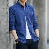 2019春秋新款男士衬衫男韩版修身时尚青少年春秋百搭长袖衬衣寸衫
