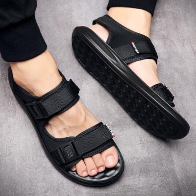 休闲凉鞋男潮2019夏季新款男士时尚沙滩鞋韩版防滑魔术贴温州鞋子