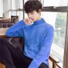 2019新款韩版针织衫套头半高领男士毛衣纯色打底男式毛衣男装批发