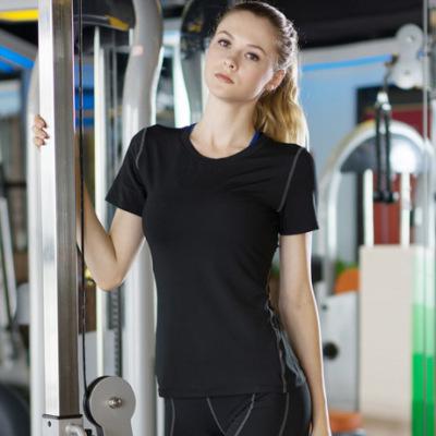 女子PRO 紧身训练短袖 运动健身瑜伽 排汗速干短袖衫T恤衣服2003
