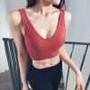 运动文胸一片式不压胸聚拢减震瑜伽内衣美背网红深V性感时尚百搭
