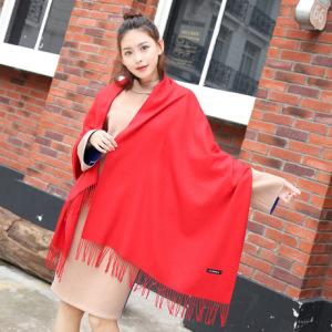 2019好质量秋冬季单色纯色仿羊绒丝巾女百搭经典羊绒围巾女士披肩