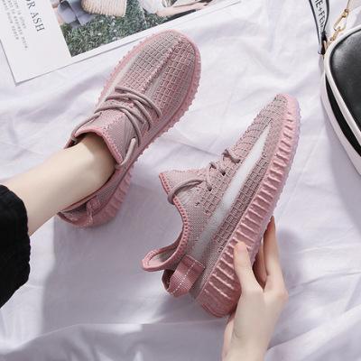 兜川爆款兵马俑布鞋女夏季350v2飞织运动鞋休闲跑步女鞋YZ01