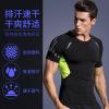 新款欧美套头健身服3件套 跑步运动上衣长袖透气紧身瑜伽服男