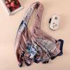 春夏秋新款韩版花卉素雅高档仿真丝围巾女装饰披肩防晒沙滩巾
