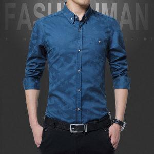2019春季新品男式衬衫长袖潮流新款男士休闲衬衣韩版修身