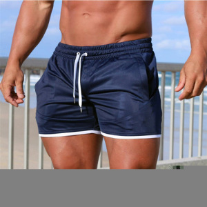 肌肉兄弟新款男式跑步运动短裤网眼裤夏季薄款训练三分裤修身跑步