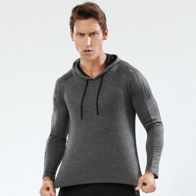 猎星定制logo连帽长袖T恤薄运动卫衣速干透气高弹力健身服90122