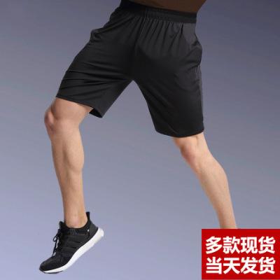 运动短裤男士跑步健身训练五分裤夏季速干宽松反光篮球短裤跨境
