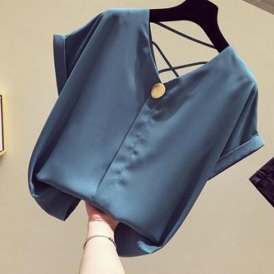 《40款选择 》2019新款韩版宽松衬衫洋气上衣女夏