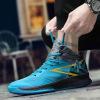 跨境篮球鞋高帮男鞋 春季耐磨透气增高学生涂鸦休闲鞋实战运动鞋