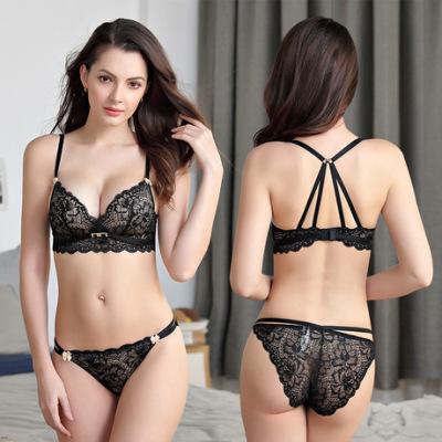新款女士蕾丝性感无钢圈内衣文胸套装厂家直销批发一件代发6006