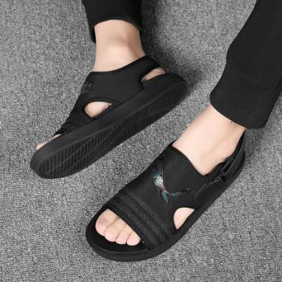 男士凉鞋2019新款夏外穿韩版百搭青年潮流个性软底休闲鞋沙滩鞋潮