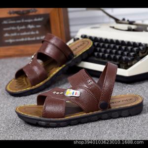 2019新款夏季男士凉鞋时尚休闲沙滩鞋男两用室内外凉拖鞋厂家批发