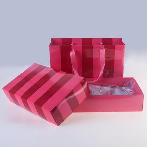 一件代发高档女士内衣文胸红色礼盒礼品包装盒手提袋现货批发9962