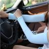 韩版夏季冰袖防晒袖套跑男手套户外骑行薄款冰丝冰袖女