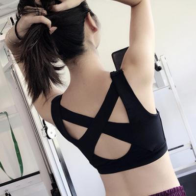 linebreak前拉链瑜伽背心女防震跑步聚拢定型运动内衣健身文胸bra