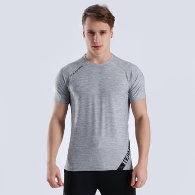 猎星新款厂家直销爆款透气运动健身跑步短袖上衣速干T恤休闲90071