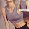 萝莉同款性感后背镂空网孔背心瑜伽文胸加宽下摆肩带运动健身Bra