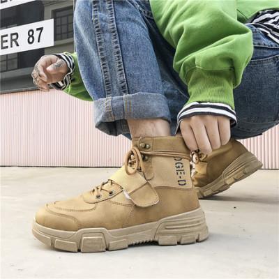2019秋冬季新款休闲男靴高帮马丁靴港风男鞋时尚潮流ins短靴A2802