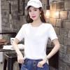2019夏季新款韩版宽松大码女装短袖T恤 时尚莫代尔女T恤