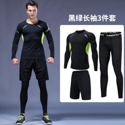 肌肉力量背心男健身短袖运动套装弹力男士跑步运动服网店代理