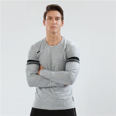猎星秋冬新款圆领长袖速干衣透气弹力跑步运动T恤长袖健身服90119