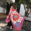 防晒披肩女夏季新款民族风旅游超大百搭丝巾海边沙滩纱巾棉麻围巾