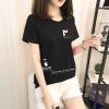 【40款拼团】2019夏季新款T恤女短袖韩版宽松女装上衣圆领打底衫