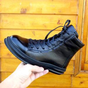 冬季马丁靴男靴真皮头层牛皮男士短靴子英伦加绒军靴潮流高帮男鞋