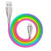 锌合金彩虹苹果数据线 适用于type-c安卓乐视手机充电线编织线材